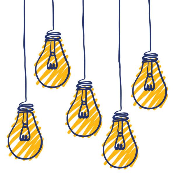 Bright Ideas Lightbulb Graphic