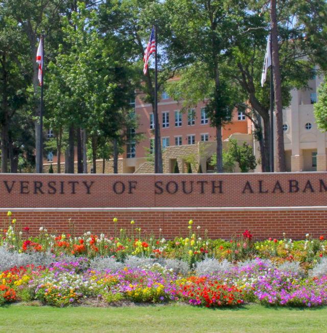 University South Alabama Sign