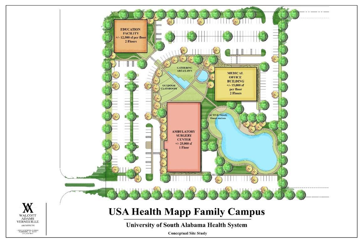 Mapp Family Campus - Baldwin County Rendering