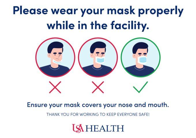 USA Health facemasks
