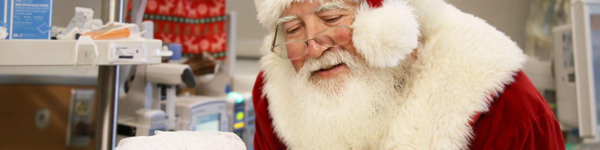 Santa visits babies 2