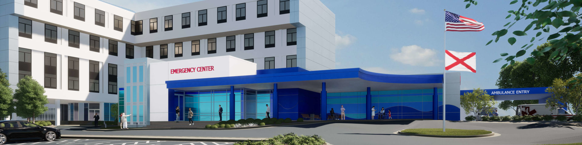 Rendering of the expanded Pediatric Emergency Center at USA Health Children's & Women's Hospital