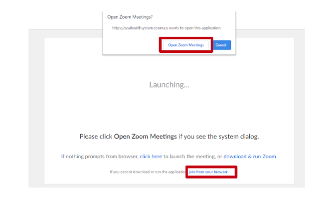 Zoom Launch Screen